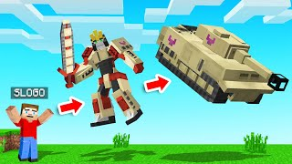 How We BECAME TRANSFORMERS In Minecraft!