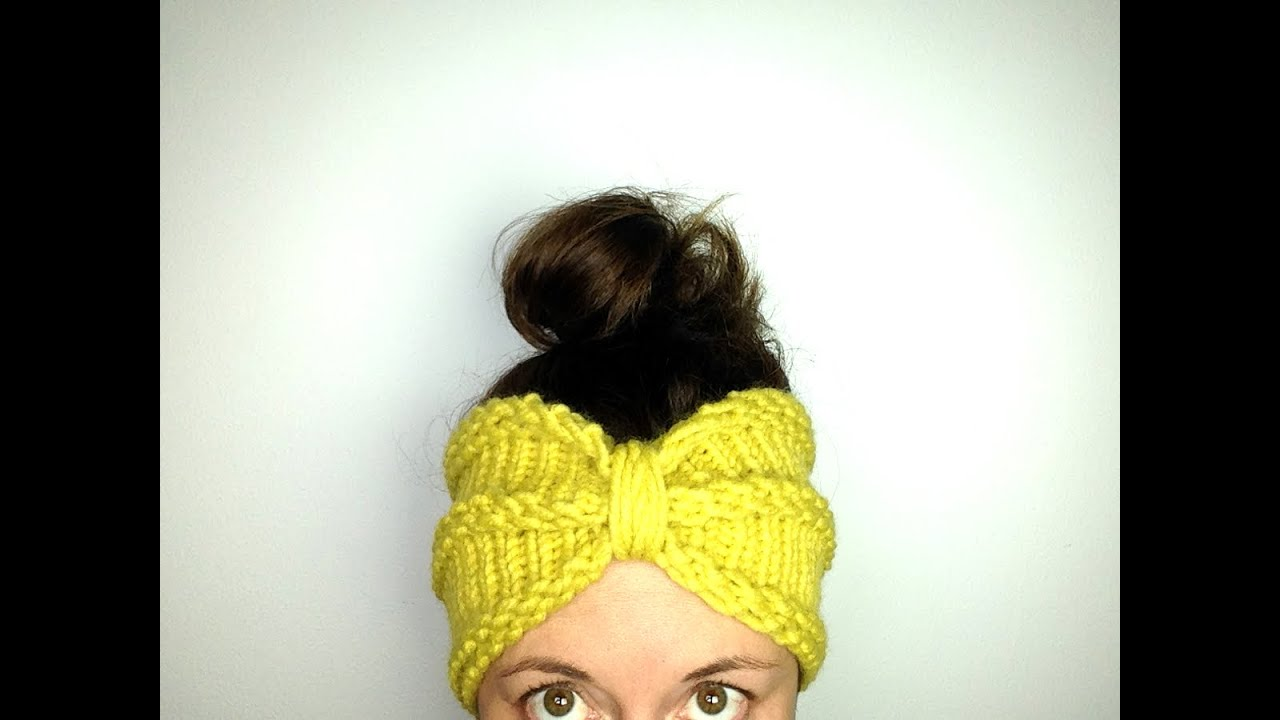 Ear Warmer Loom Knitting Pattern : Como tejer con telar una cinta calentadora / diadema lazo turbante (Tutorial ...