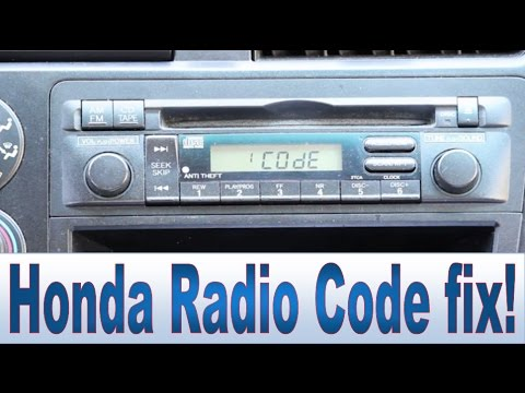 Honda Civic Accord CR-V Pilot Radio Code and Serial Number Repair - YouTube