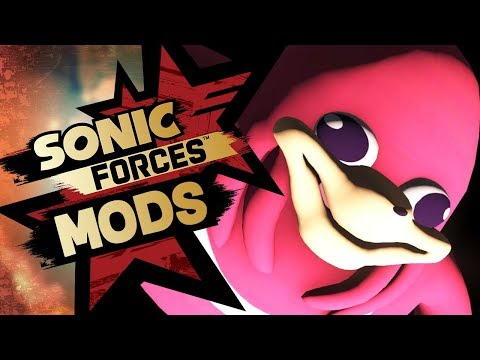 Sonic Forces Mods - Playable Uganda Knuckles Meme Mod w/ Tag Team Stage & Sanic Boss Battle!