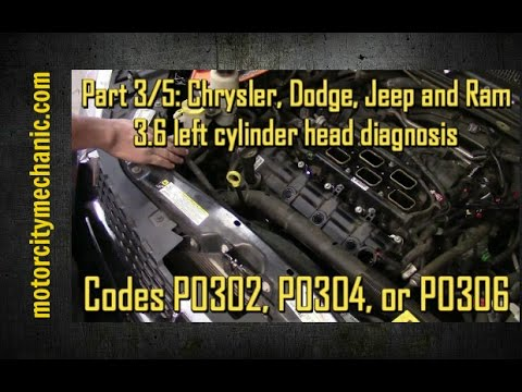 Part 3/5: Chrysler, Dodge, Jeep, and Ram 3.6 left cylinder head codes P0302, P0304, and P0306