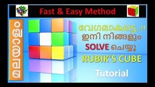 Youtube Tutorial 1: Rubik's Cube 1st & 2nd Layer [ മലയാളം ]