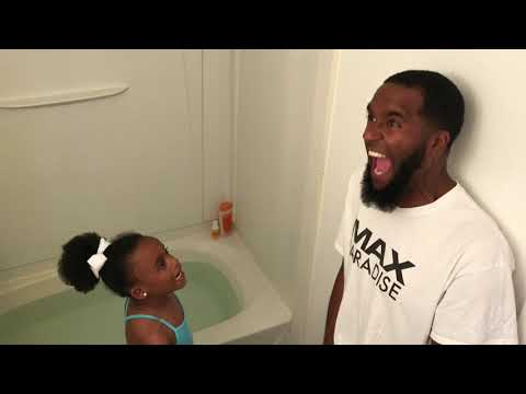 GRANNY MAKES DAD GET IN A TUB FULL OF COLD WATER FOR TRICKING THE GIRLS!!!🥶🏊🏽‍♂️
