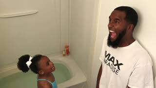 GRANNY MAKES DAD GET IN A TUB FULL OF COLD WATER FOR TRICKING THE GIRLS!!!🥶🏊🏽♂️