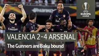 Valencia vs Arsenal (2-4) | UEFA Europa League Highlights