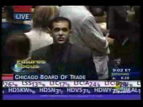 Exchange floor trader Wall Street Prank