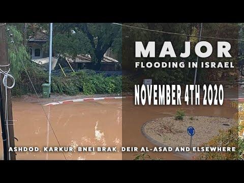 Major Flooding Israel Nov 2020. Unbelievable Footage!