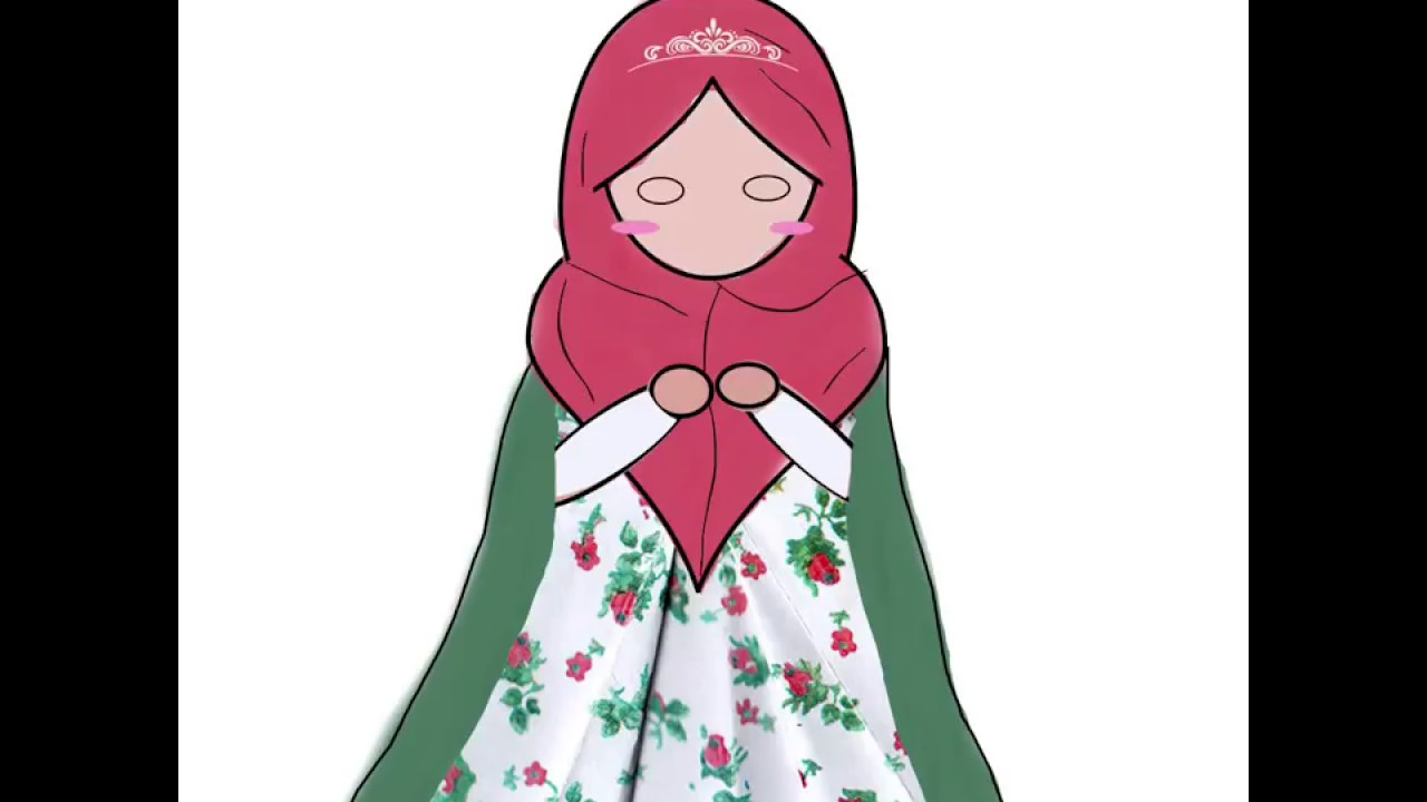 Kartun Muslimah Gaun 2 YouTube
