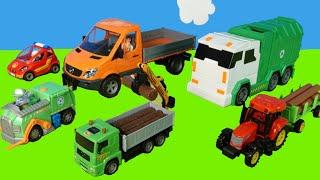Traktor, Müllauto, Abschleppauto, Laster -Spielzeugautos für Kinder