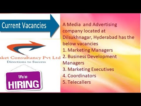 Vacancies/Job opportunities for Media & Advertising company