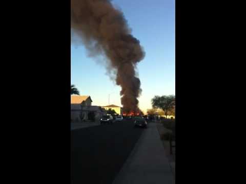 Fire near Aire Libre Elementary School, Phoenix, AZ