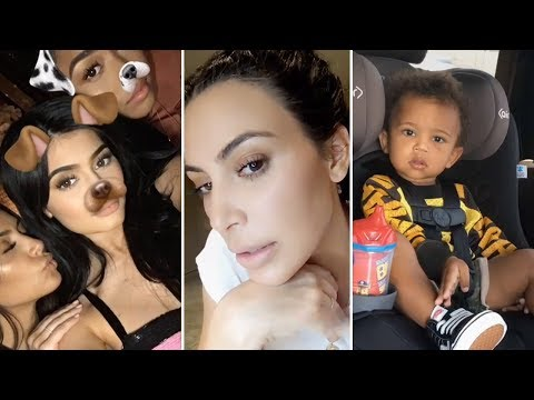Kim Kardashian | Snapchat Videos | July 2017 | ft Kylie Jenner, Saint West & Khloe Kardashian