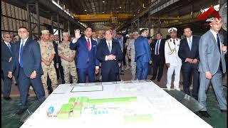 فيديو جديد لزيارة الرئيس السيسي لمصنع حديد المصريين
