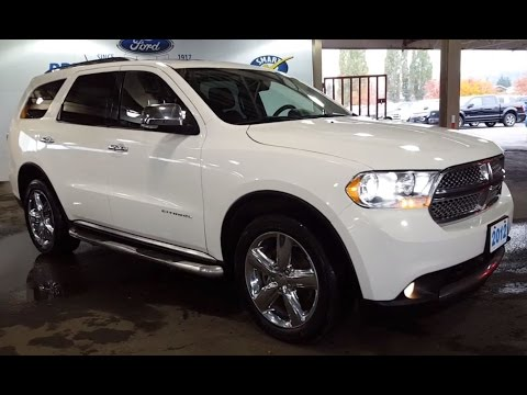 2012 White Dodge Durango AWD Citadel 4 Door Sport Utility Pre Owned Review | PG Motors