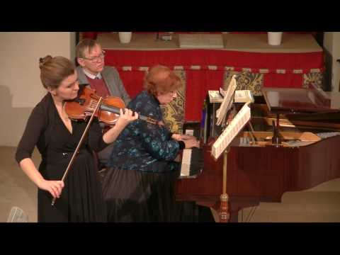 Natalia Lomeiko and Olga Sitkovetsky play Brahms: Violin sonata in G Op 78