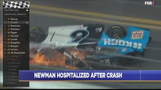 Denny Hamlin makes statement after NASCAR update on Ryan Newman's condition
