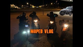 CLOSE CALL!! Moped Vlog (Generic trigger 50, Peugeot Speedfight 3, PGO Hot 50, PGO Black Magic)
