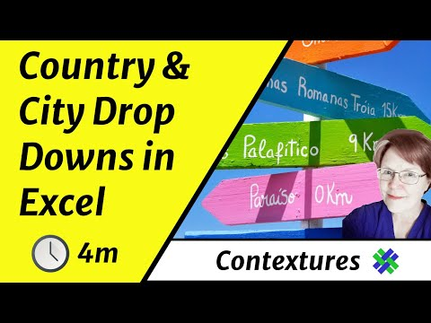 Excel Drop Down Lists for Country and City