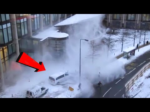 TOP 10 Dangerous Huge chunks of ice Falling on Head & Cars !