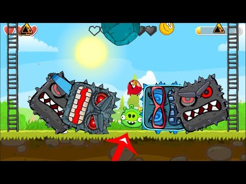 Angry Birds Animated In Green Hills ' Fusion Battle ' With ( ALL CAVE BOSS ) RED BALL 4