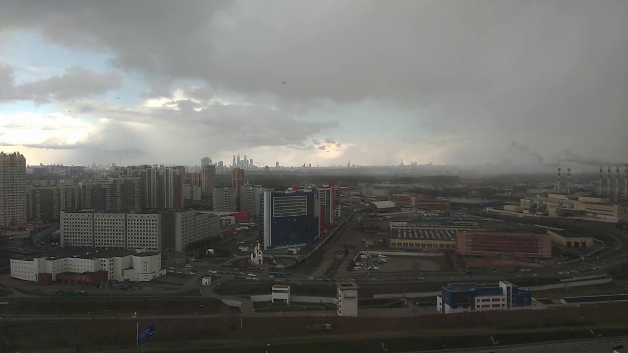 Snow storm in Moscow Time Lapse