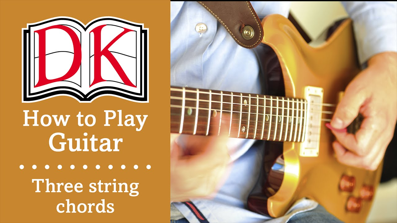 how to play guitar basic three string guitar chords youtube. Black Bedroom Furniture Sets. Home Design Ideas
