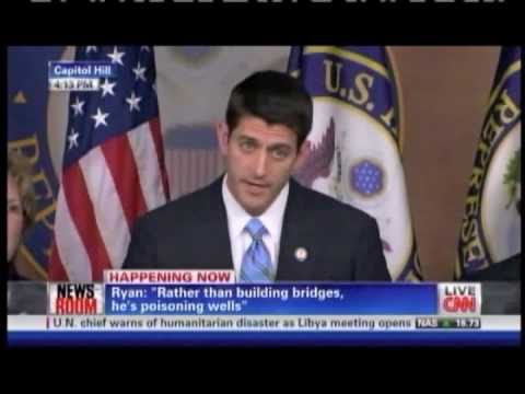 Paul Ryan Expresses Disappointment At President's Irresponsible Lack of  Leadership