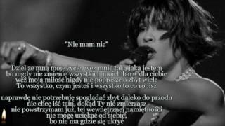"Whitney Houston - I have nothing ( ""Nie mam nic"" ) TEKST"