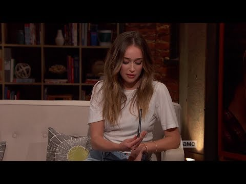 Talking Dead 718: Alycia DebnamCarey with butterfly knife