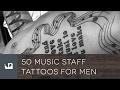50 Music Staff Tattoos For Men