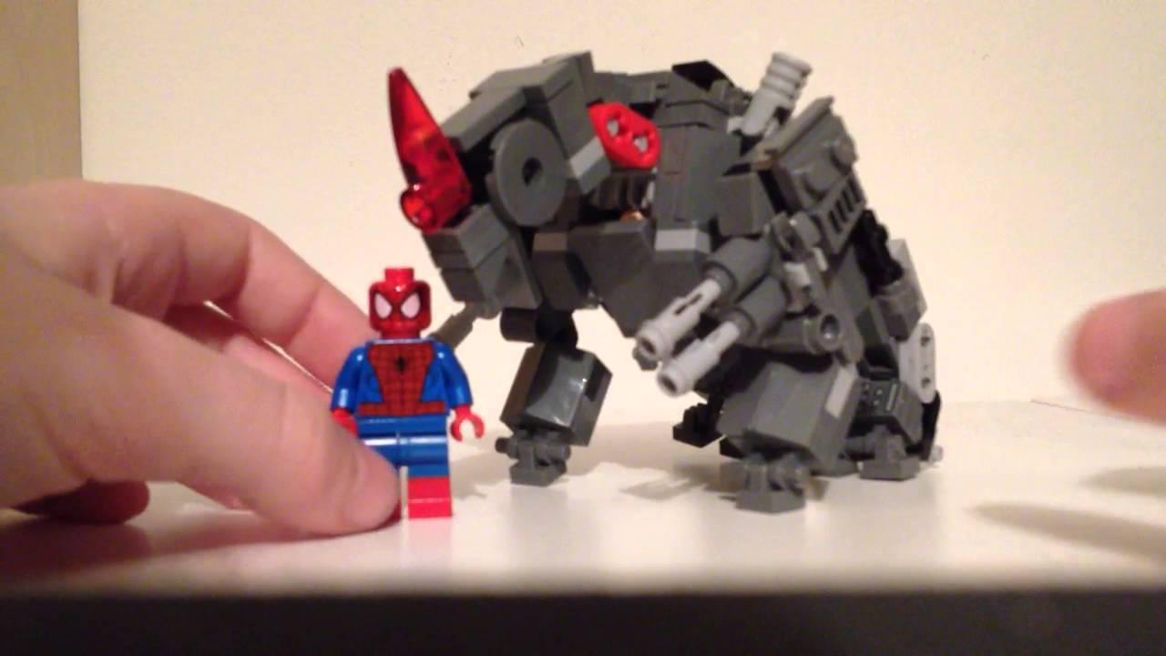 Lego the amazing spider man 2 rhino custom build youtube - Lego the amazing spider man 3 ...