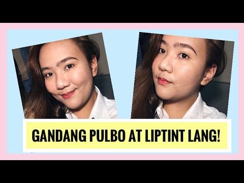 ❤ Gandang Pulbo at Liptint lang! (My school makeup routine ❤) | Tagalog | Miraquel98
