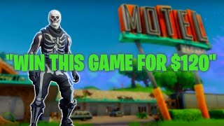 """""""$120 if you win this"""" Fortnite Solo Squad God"""