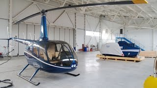 Helicopter Robinson R66 Assembling in Kiev, Ukraine