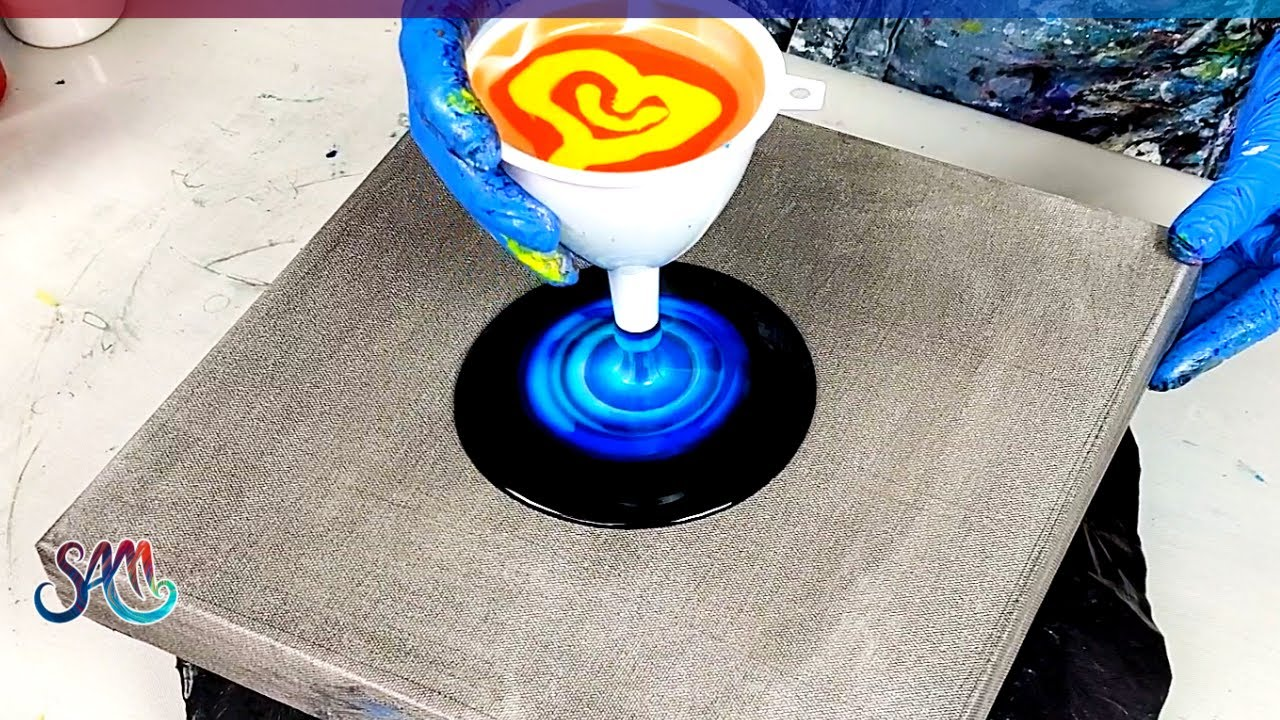 Acrylic Pouring FUNNEL Ripple Pour- Galaxy Style?🤩 Love it! | Fluid Art | Abstract Painting