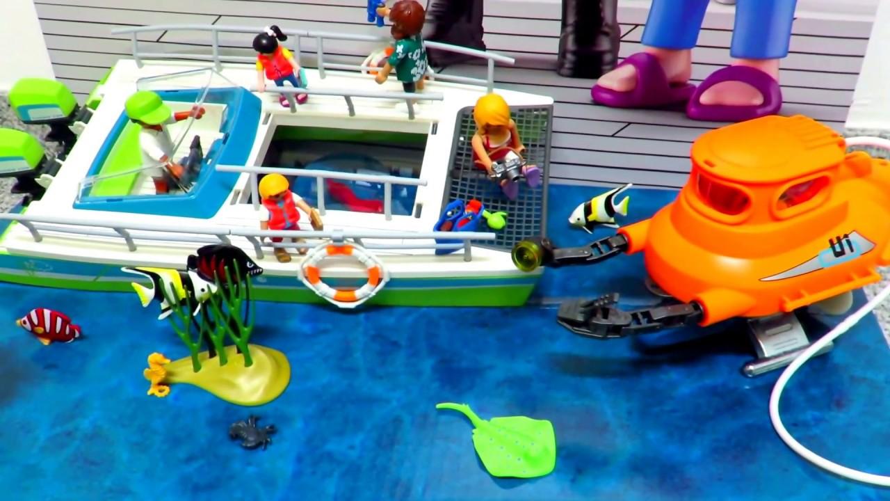 Playmobil U Boot Und Glasbodenboot By Www Besserepreise Com Youtube