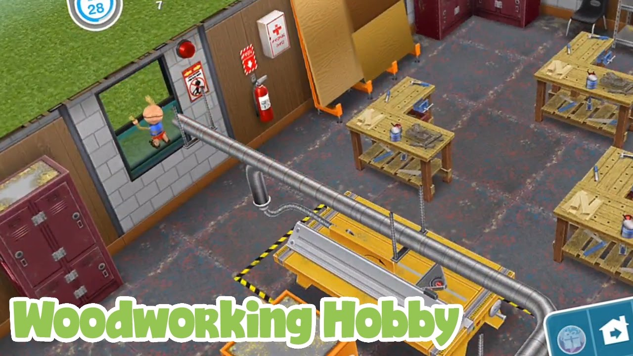 The Sims Freeplay Woodworking Hobby - YouTube