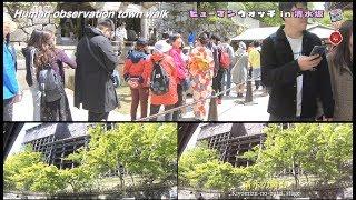 3D Movie in Kyoto JPN  Human observation town walk ヒューマンウオッチ in 清水坂5Final