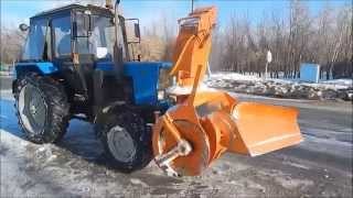 Уборка упавшего с крыши снега на тракторе без ходоуменьшителя(Быстросъемный снегоочиститель СУ 2.1 ОМ Управляемый вектор выброса снега 2-20 м. Производительность 600 - 1200..., 2015-04-07T09:51:32.000Z)
