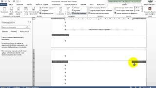 Números de pagina con secciones en Word 201x - Desde cualquier pagina - La forma mas fácil