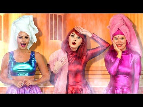 LAST TO LEAVE SAUNA CHALLENGE SUPER POPS Totally TV Challenge