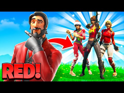 *RED* Fortnite Fashion Show! Skin Competition! | BEST RED SKIN, COMBO & EMOTES WINS!