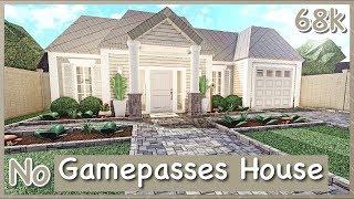 Bloxburg - No Gamepasses House Speed-build
