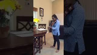 Shravya playing Bahubali Dandalaya song on violin