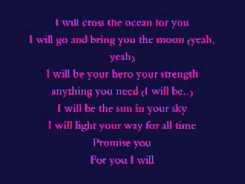 FOR YOU I WILL LYRICS