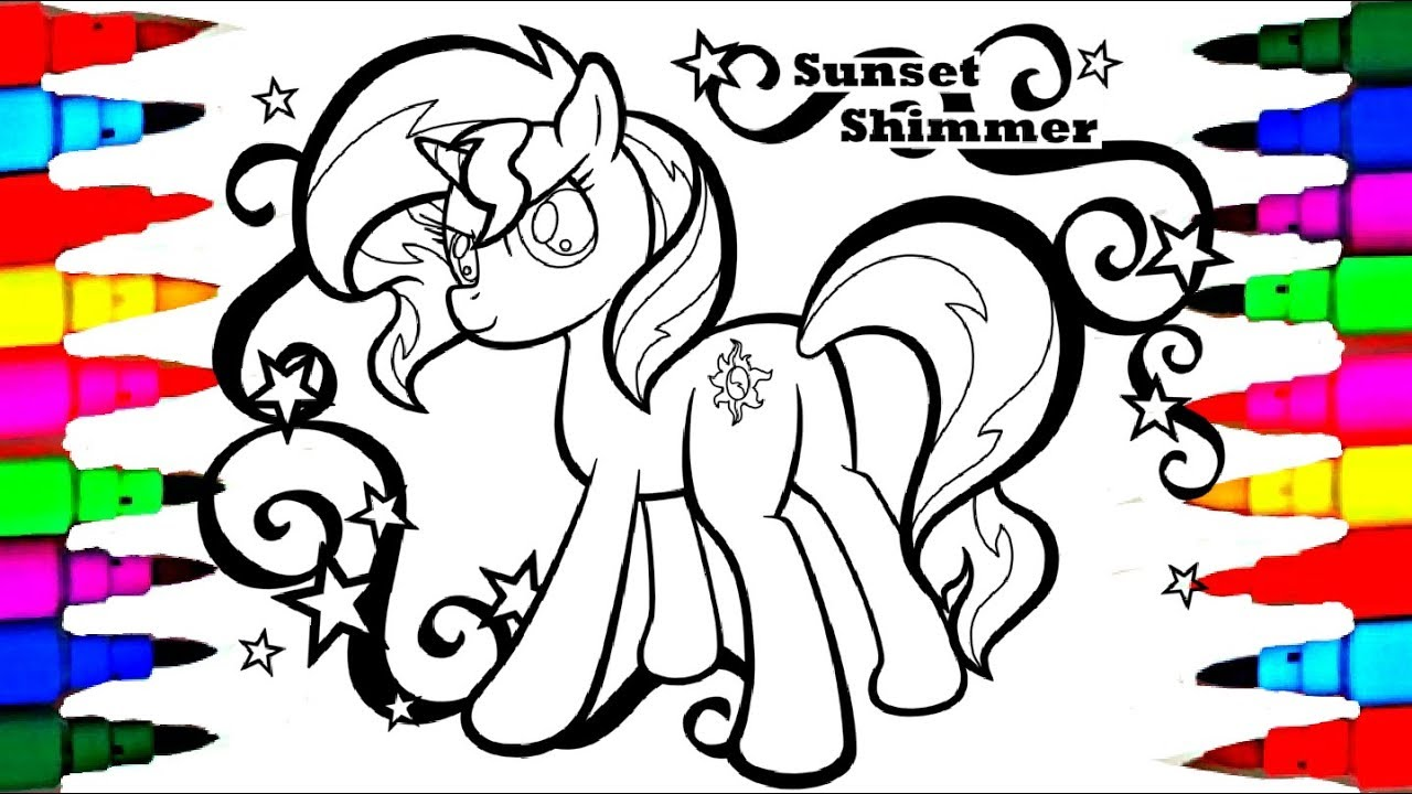My Little Pony Princess For Girls Sunset Shimmer Coloring Sheet