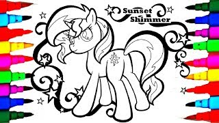 My Little Pony Princess for Girls Sunset Shimmer Coloring Sheet Coloring Pages l How to Color