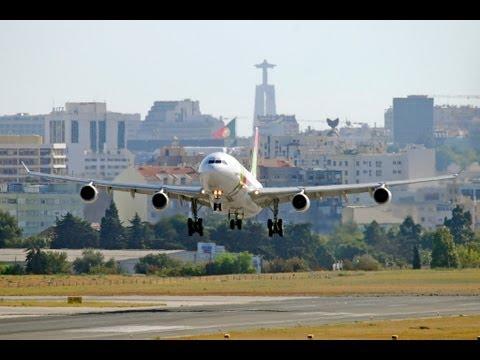 TAP Portugal!!! Airbus A340-300 Landing At Newark Liberty International Airport ~ KEWR (HD1080p)