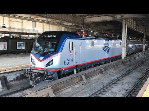 Amtrak, NJ Transit, & PATH HD 60fps: Short Morning & Newark Penn Station w/ MARC Cars (6/22/18)