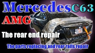 Mercedes C63. Body repair.